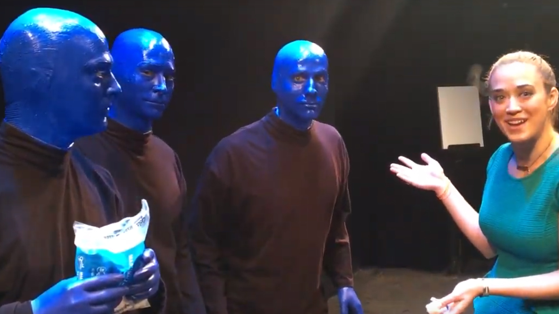 Video: Kayla Drescher with the Blue Man Group